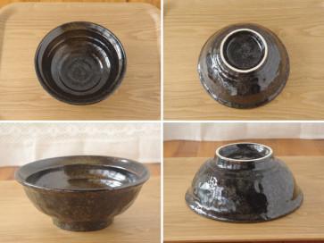 YUTEKIKESHOU pebbly 21cm ramen bowl