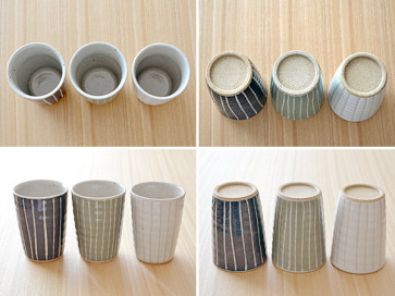 Striped tumblers, 3 piece set