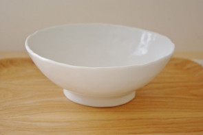 Hand-formed ramen bowls, white, 3 piece set