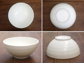 Extra-large bowls, white, 2 piece set